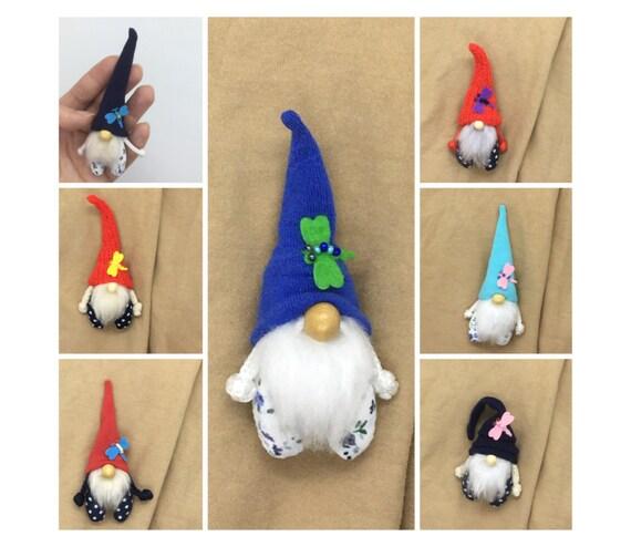 Mini Spring Gnome Pin Brooch Easter Gnome Clip Purple Gnome Flower Gnome Accessory Gnome Gift Plush Gnome Easter Pin Mothers Day Gnome Pin
