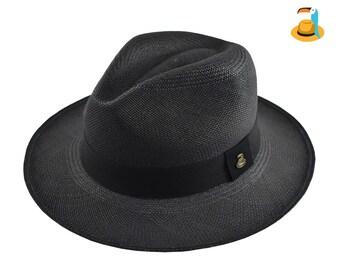 3ffeec6b Black Classic Fedora | Genuine Panama Hat | Toquilla Straw | Handwoven in  Ecuador
