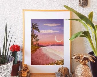Affirmation Wall Art Breathe Spiritual Decor Moon Plants Digital Art Print Flowers Poster Sun
