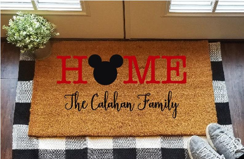 Disney Mickey Mouse Doormat Personalised Disney Door Mat with Mickey