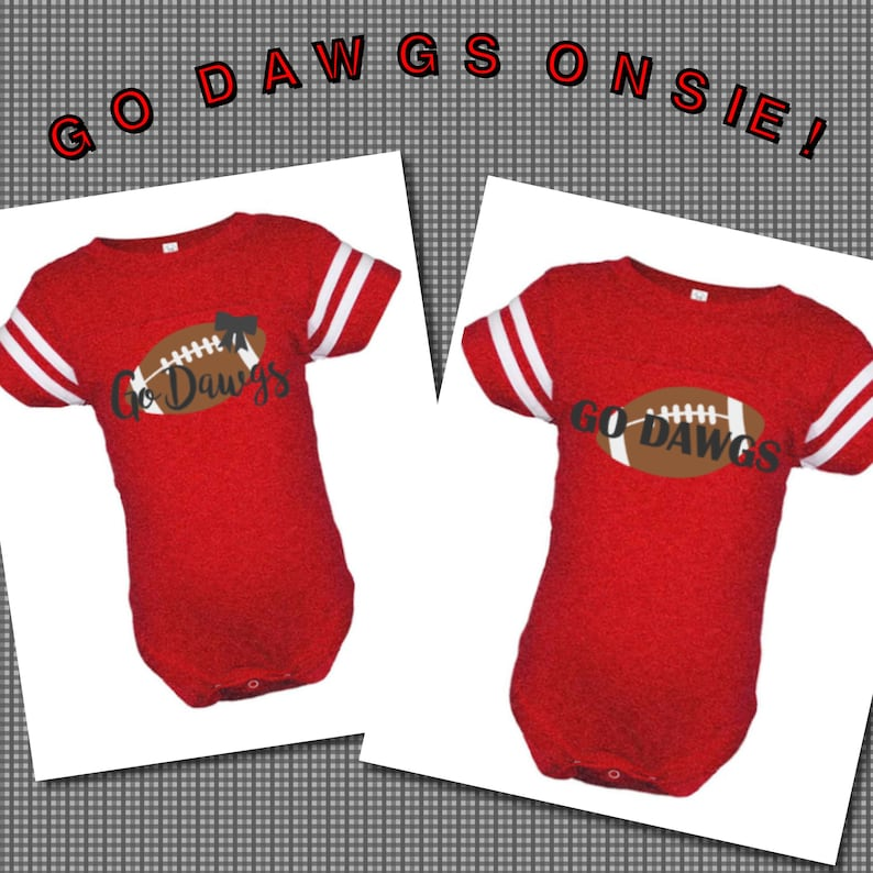 huge selection of c2f20 e88a8 Georgia Bulldogs Baby Bodysuit; Go Dawgs Baby Jersey; Bulldogs Family  Shirt; Georgia Gameday Clothing; College Football Jersey
