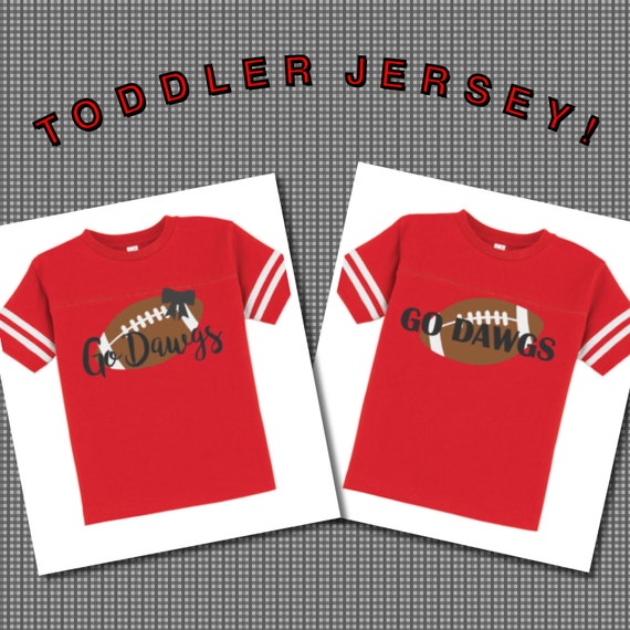 finest selection 8c5f9 25394 Toddler Georgia Football Jersey; Go Dawgs Shirt; Georgia Bulldogs Jersey;  Gameday Shirts; Football Fan Attire; UGA Football Clothing