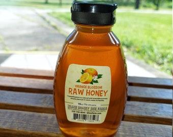 16 oz Orange Blossom Raw Honey