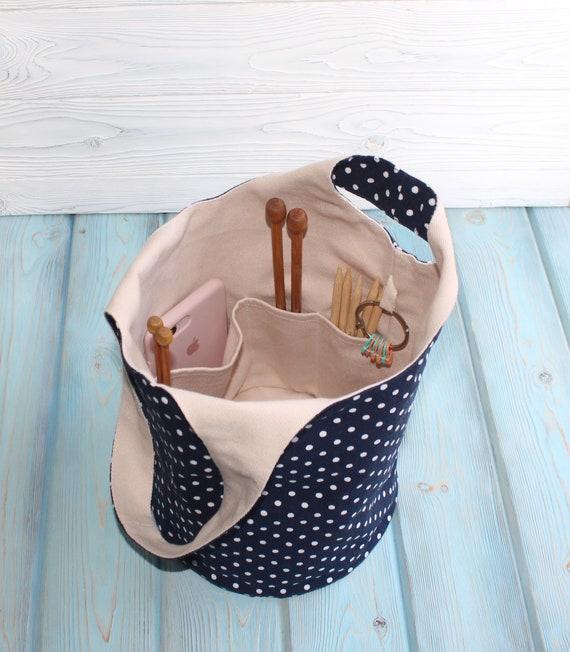Japanese knot Bag  Project Bag Yarn Holder