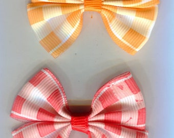 10 loops orange/red mix checkered 54 x 42 mm for sewing