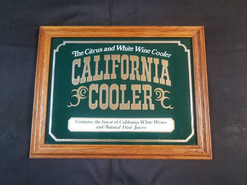 Vintage California Cooler Advertisment, Vintage California Cooler Frame  Mirror Advertisement