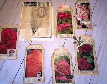 Journal Variety Pack.  Tear Sheet Pad. Floral Tags. Ephemera. Embellishments. Journal & craft supply. Junk Journal Treasures