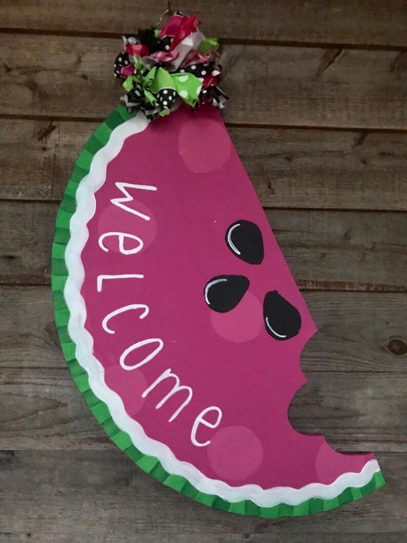 Watermelon Slice Door Hanger