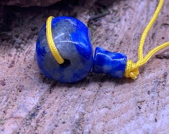 Denim Lapis 12mm Mala Bead Or Guru Bead (DL4)
