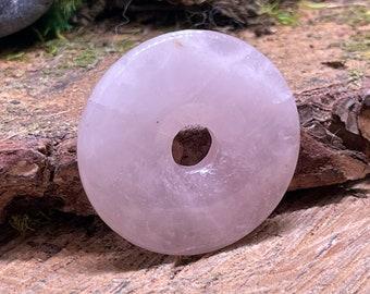 SCRATCH n DENT Rose Quartz 40mm Donut Pendant RQ122
