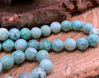 Turquoise Peruvian 8mm Round - 15 inch strand