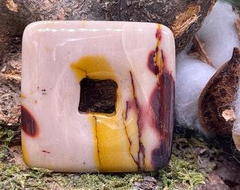 Mookaite Stone 40mm Square Donut M200