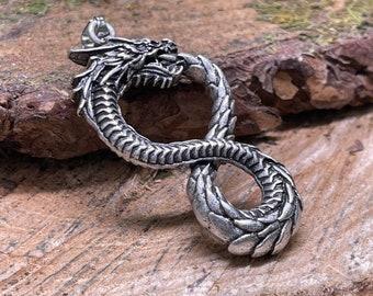 Nordic, Norse, Viking, Scandinavian Dragon Metal Amulet Pendant or VIking Charm