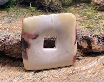 Mookaite Stone 40mm Square Donut M203