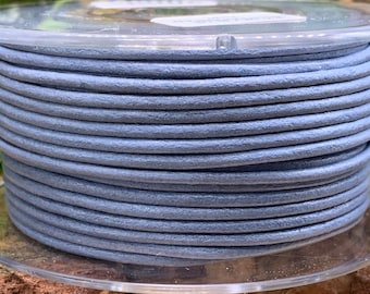 2mm SKY BLUE Round Mediterranean Leather -Sold by yard