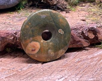 SCRATCH n DENT Rhyolite 40 mm Stone Donut Pendant R127