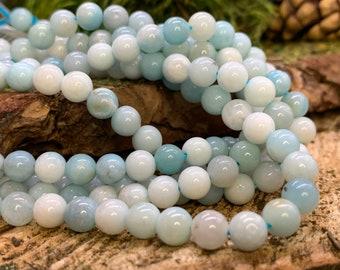 6mm Round Amazonite  bead-one 8 inch strand