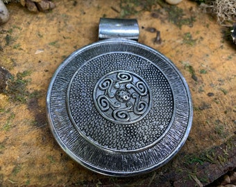 Large Metal Boho Medalion Pendant