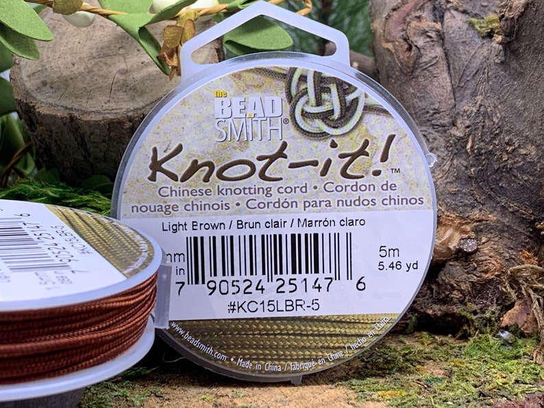 Light Brown 1.5mm Chinese Knotting Cord 5.46 yards Knot-It by Bead Smith