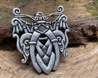 Nordic, Norse, Viking, Scandinavian Dragon Metal Amulet Pendant Men Talisman Jewelry