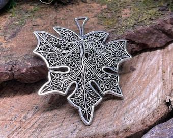 Large Metal Leaf Pendants