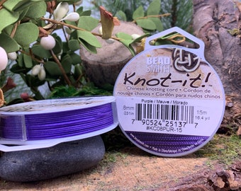 Purple .8mm Chinese Knotting Cord 16.4 yards Knot-It by Bead Smith
