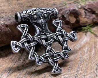 Thor's Hammer Viking Metal Amulet Pendant, Norse Charm
