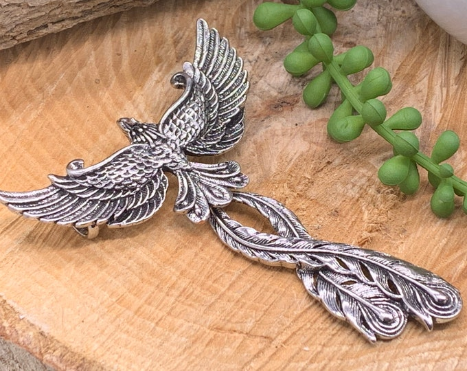 Featured listing image: Phoenix Firebird Large Pendant with Hinged Tail