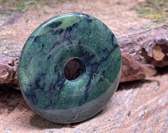 Dendritic Jade Donut Pendant 40mm DJ101