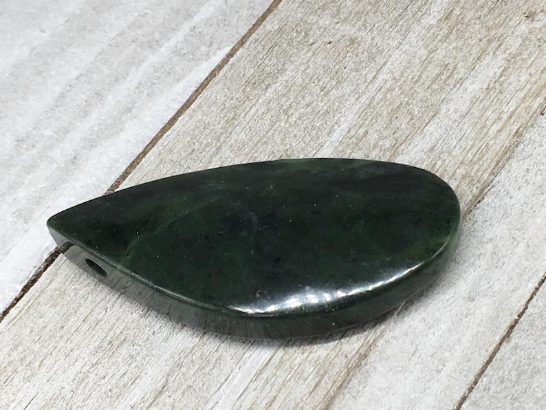 Dendritic Jade 22x58 mm Free Form Pendant