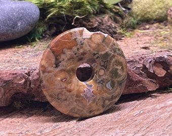 SCRATCH n DENT Rhyolite 40 mm Stone Donut Pendant R134