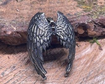 Raven wings. Angel Wings Metal Pendant,