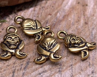 Pirate Gold Charms Pewter (lot of 4)