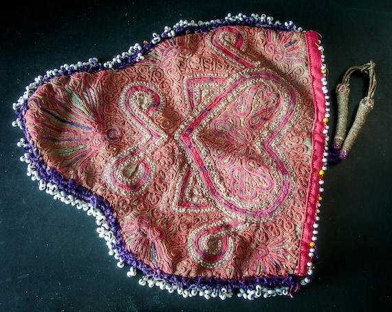 Afghan silk Embroidered bag/Afghan Pashtun Katawaz