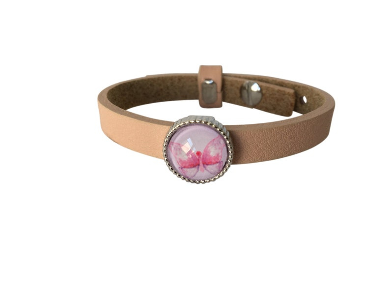 Bracelet children leather bracelet butterfly