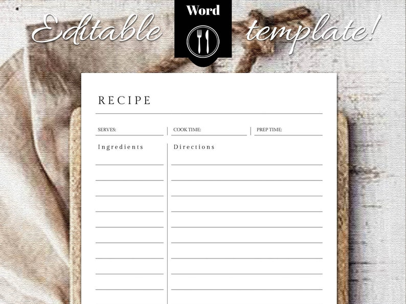 Recipe Journal Template from i.etsystatic.com