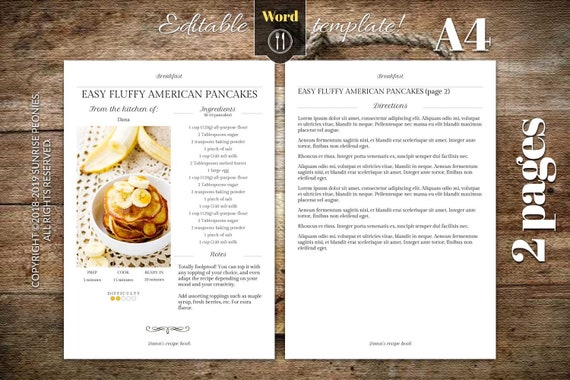 Cookbook Template For Word from i.etsystatic.com
