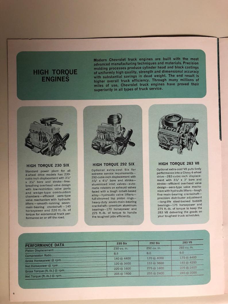 1965 Original dealer brochure for four wheel drive Chevrolet Trucks