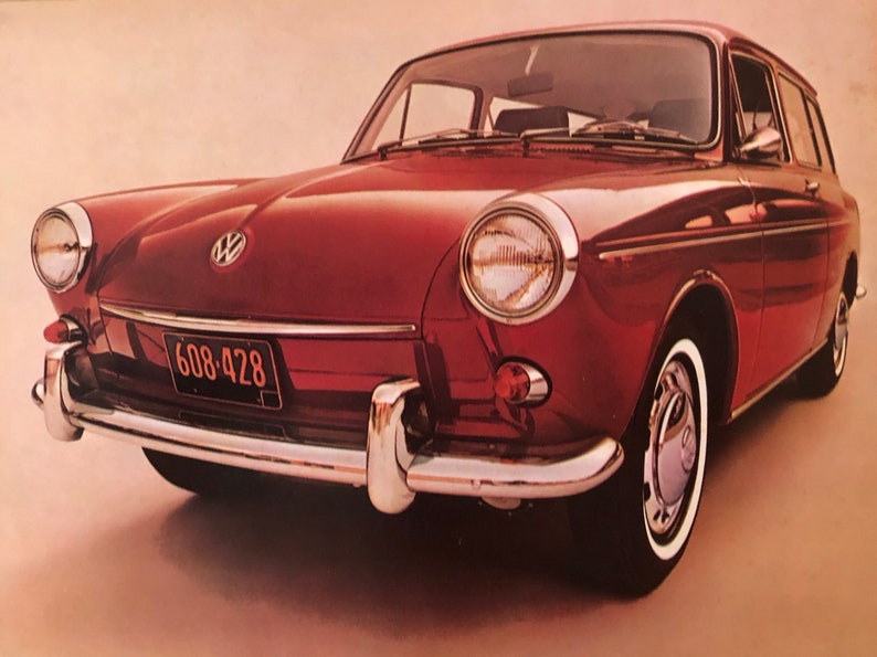 1960's volkswagen squareback dealer brochure