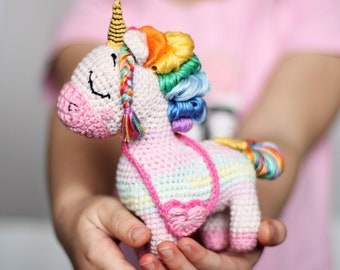 Crochet unicorn toy, Toy for newborn, Toy for bed, Handmade ... | 270x340
