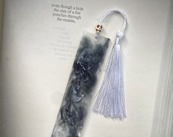 Haunted Fog Glow in the Dark Bookmark, Horror Bookmark, Halloween Bookmark, Perfect gift for Reader, Resin Bookmark