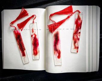 Extreme Horror Blood and Gash Resin Bookmark, Blood and Gore,Horrorcore, Blood SplatteR