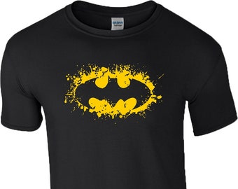 2bda2816 Batman Logo T-Shirt | Superhero | DC Comic Character | Dark Knight Joker |  Birthday Gift | Mens Tee Top