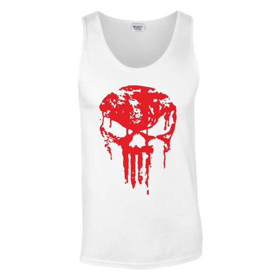 The Punisher Skull Gym Training T-Shirt Fitness MMA UFC Fight Men Youth Kids Top
