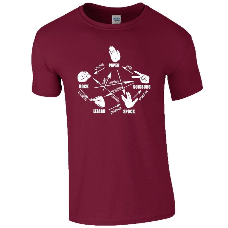 ce31c20fa71 Rock Paper Scissors Lizard Spock T-Shirt Big Bang Theory | Etsy