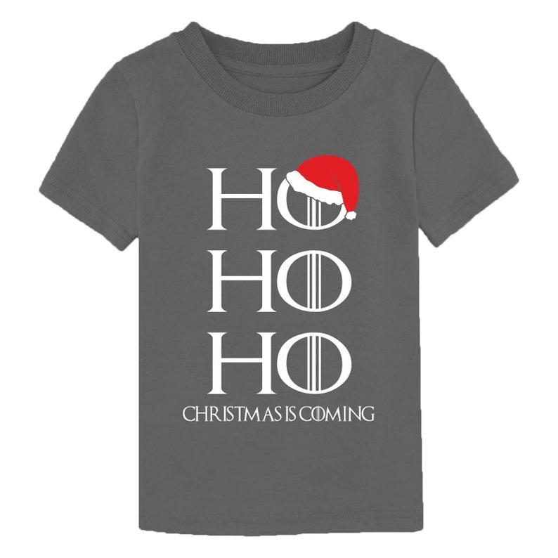 Game Of Thrones Inspired Youth Children Boy Girl Kids Top Ho Ho Ho Hodor Christmas Is Coming T-Shirt Xmas Gift Santa Claus Hat