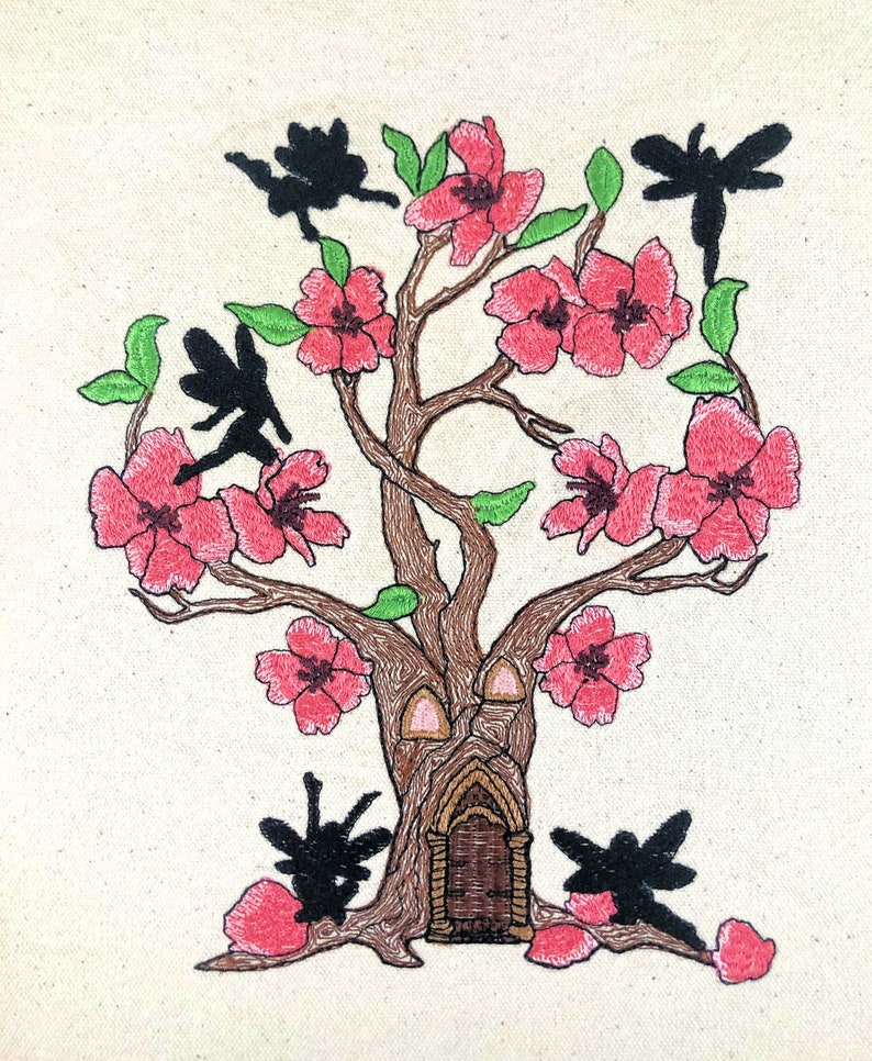 Large Cherry Blossom Faerie Home