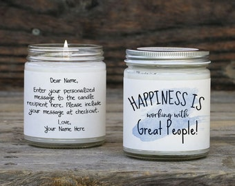 Positive Coworker Gift Candle Card
