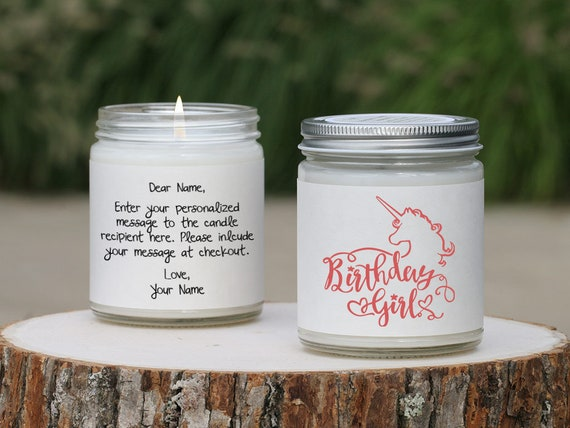 Best Friend Unicorn Candle Card Cute Birthday Gift Ideas For