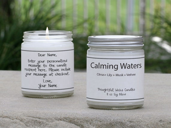 Home Decor Handmade Best Selling Candles Top Homemade Candles Thoughtful Wicks Signature Scent Tranquil Spa Scented Soy Blend Candle